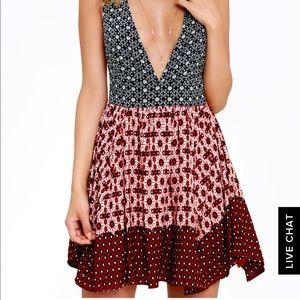 Lulus deep v neck dress
